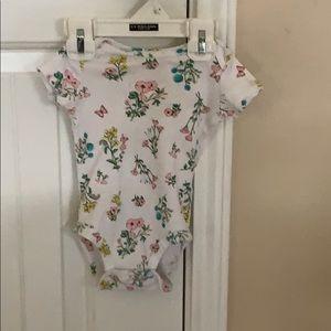 Floral print onesie